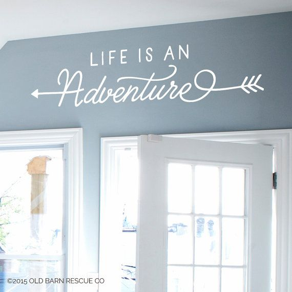 Life is an Adventure – Wall Decal Design with Arrows  Comes in the color of your choice, just tell us your