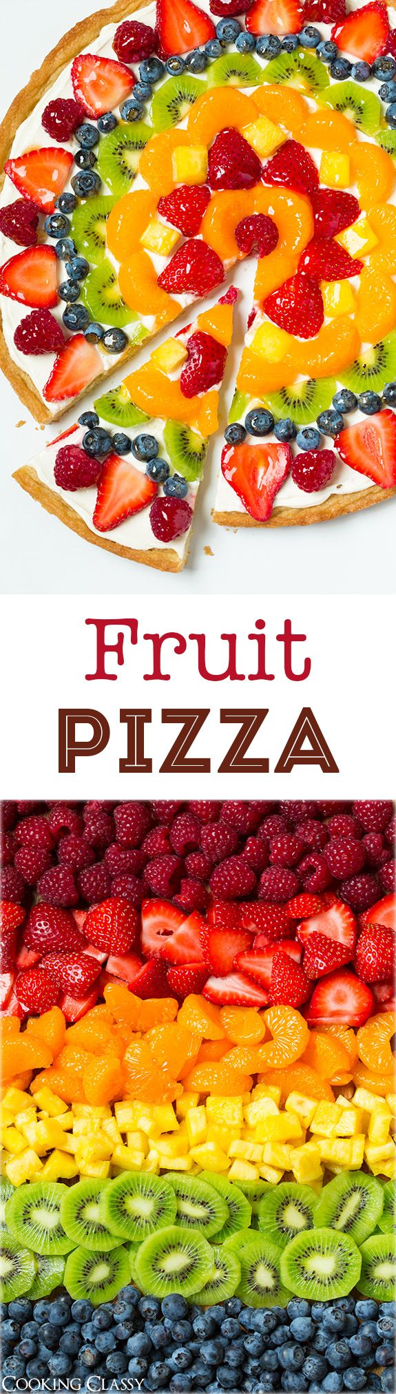 Fruit Pizza – this is one of my favorite summer desserts! Love the sweet cream cheese topping with all the
