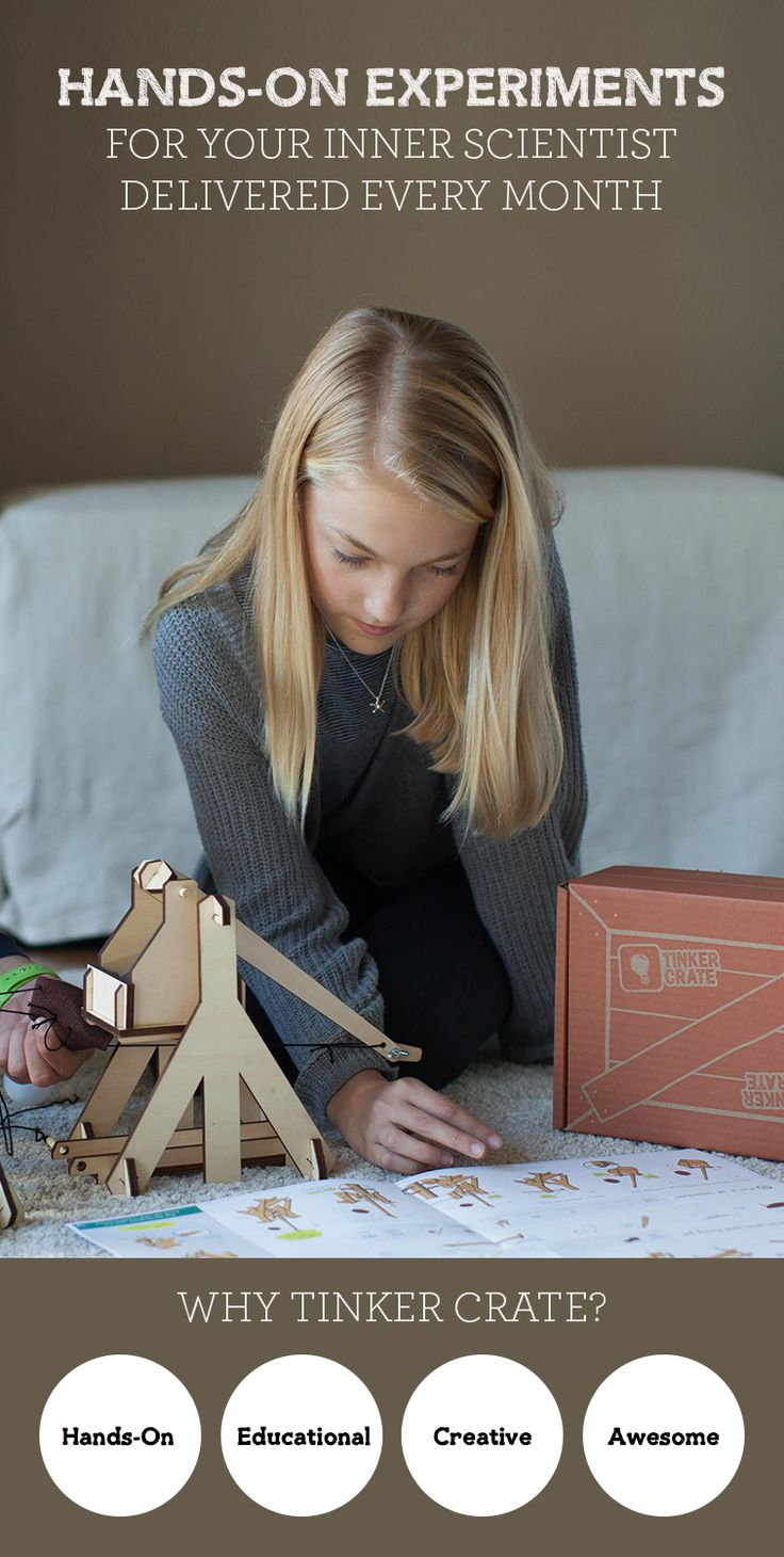 Is your child a budding creator? Discover Tinker Crate's seriously fun experiments like this Trebuchet tha