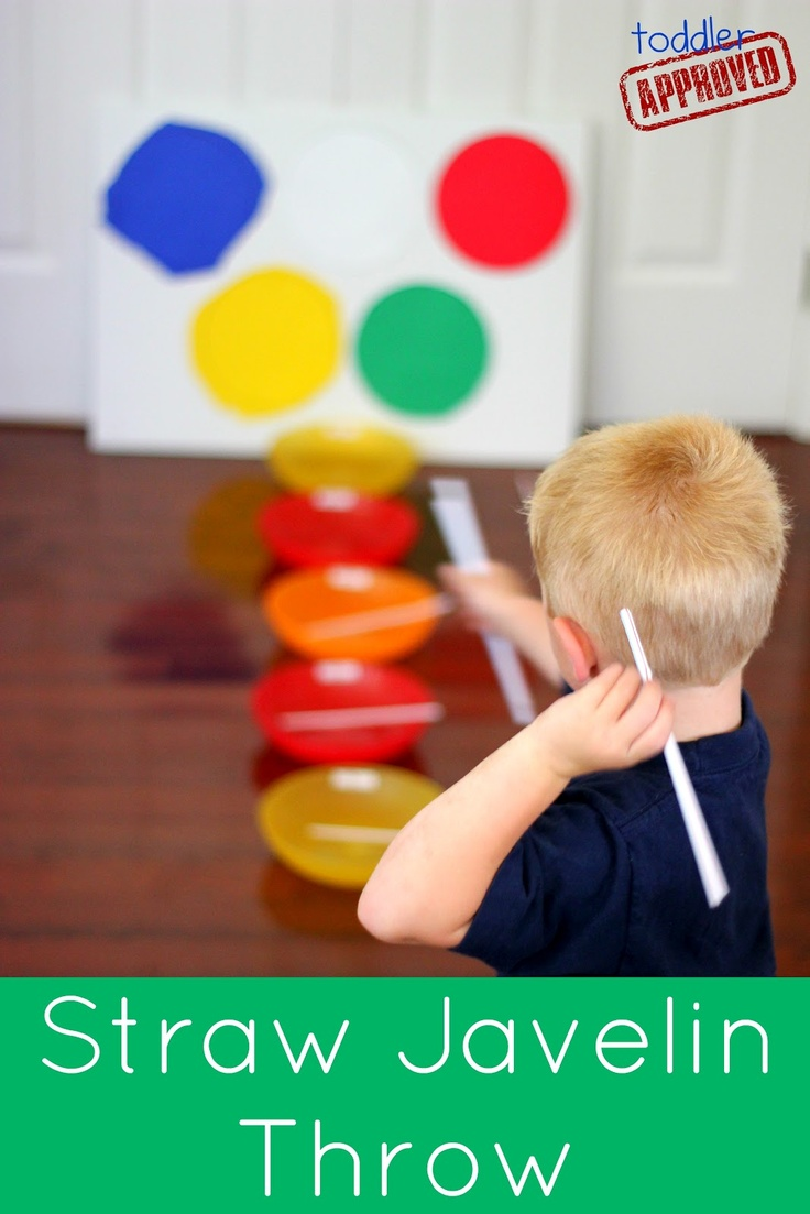 Toddler Approved!: Kid Bloggers Go Olympics: Straw Javelin Throw. Have you done any Olympics activities wi