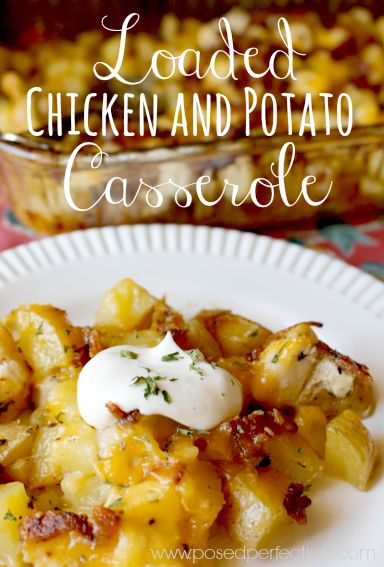 This Loaded Chicken and Potato Casserole is the ultimate comfort food! Packed with flavor and easy to prep