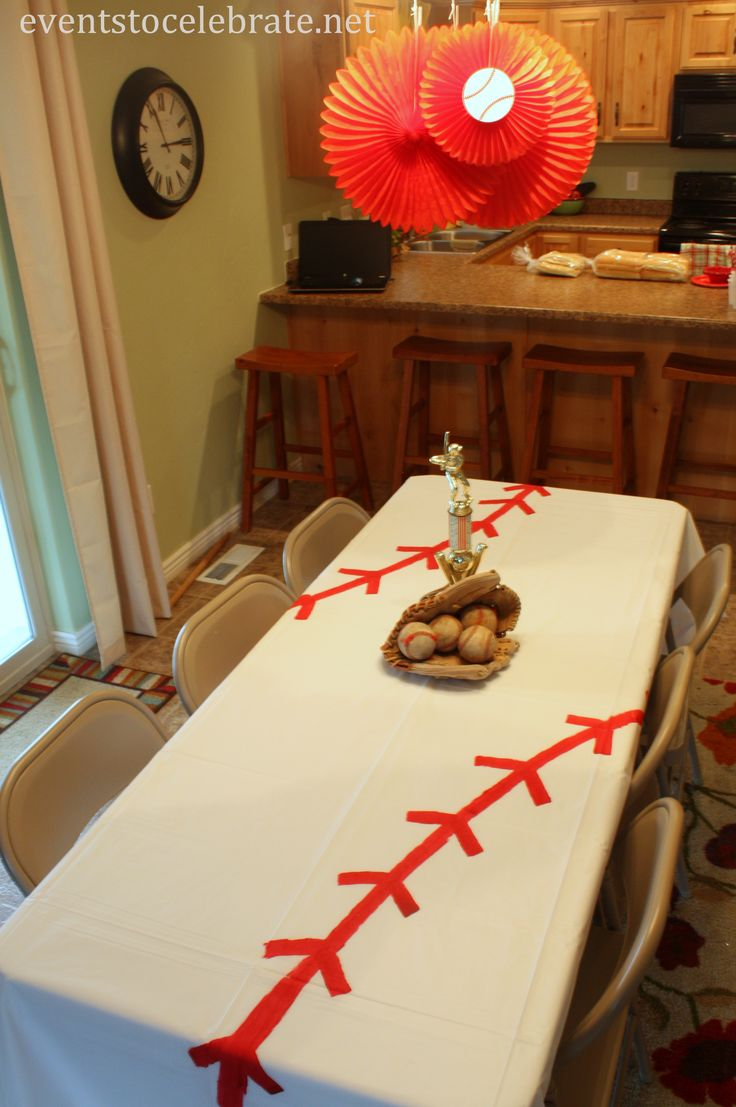 DIY Baseball Tablecloth – Events To Celebrate
