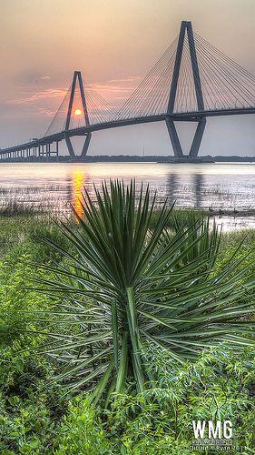 Cooper River Bridge Sunset, Charleston, South Carolina