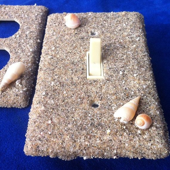 Beach Sandy Switchplate / Outlet Cover Set of TWO by ArtZodiac
