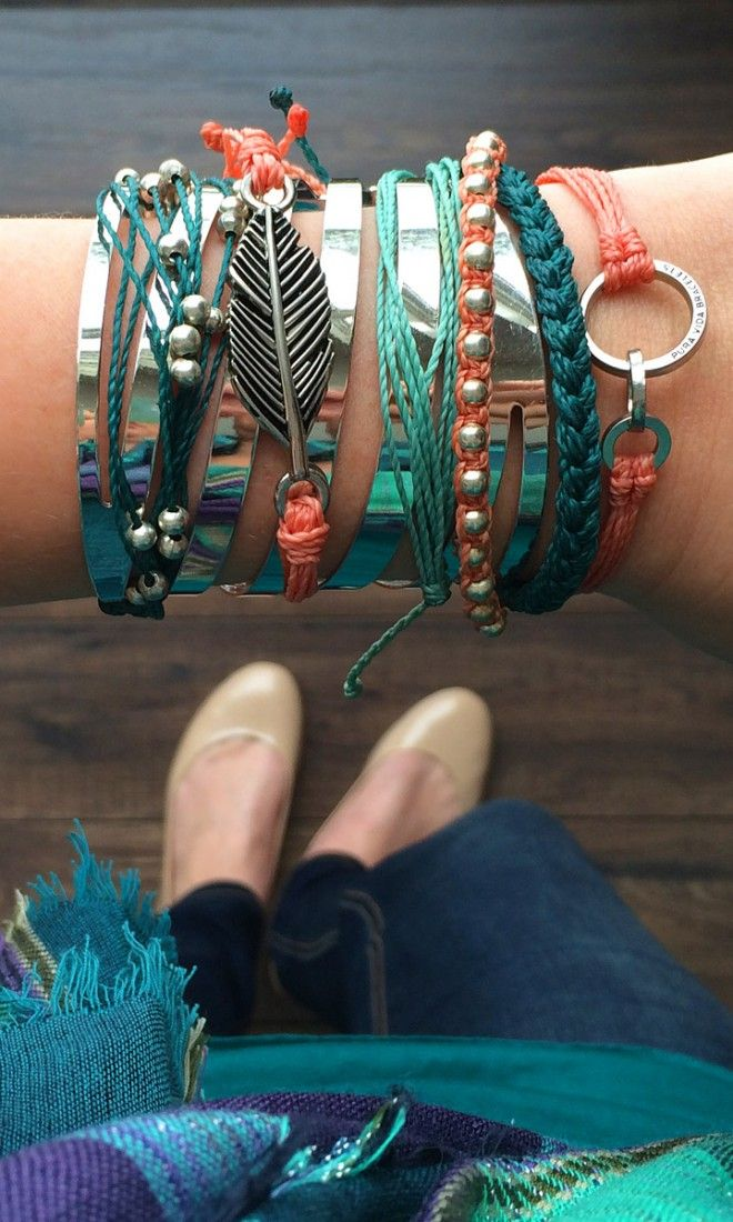 Teal & Coral Accessories – Boho Chic