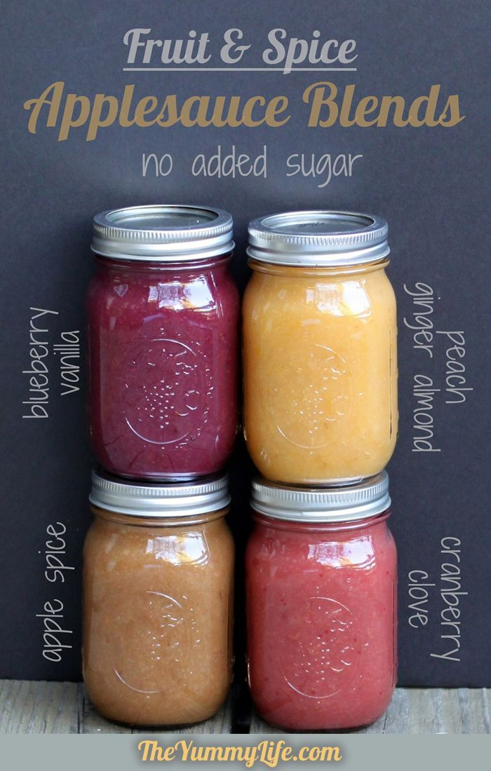 Fruit & Spice Applesauce Blends–slow cooker or stove top. No sugar added. www.theyummylife….