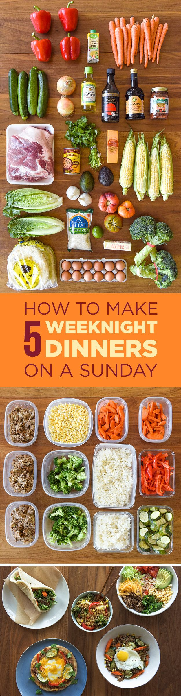 This four-person meal plan comes with a grocery list, step-by-step instructions, and zero weeknight hassle