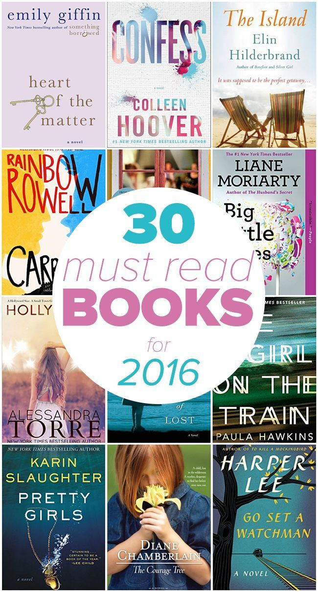 30 Must-Read Books for 2016 – Looking for some awesome books to enjoy this year? Check out our list of 30