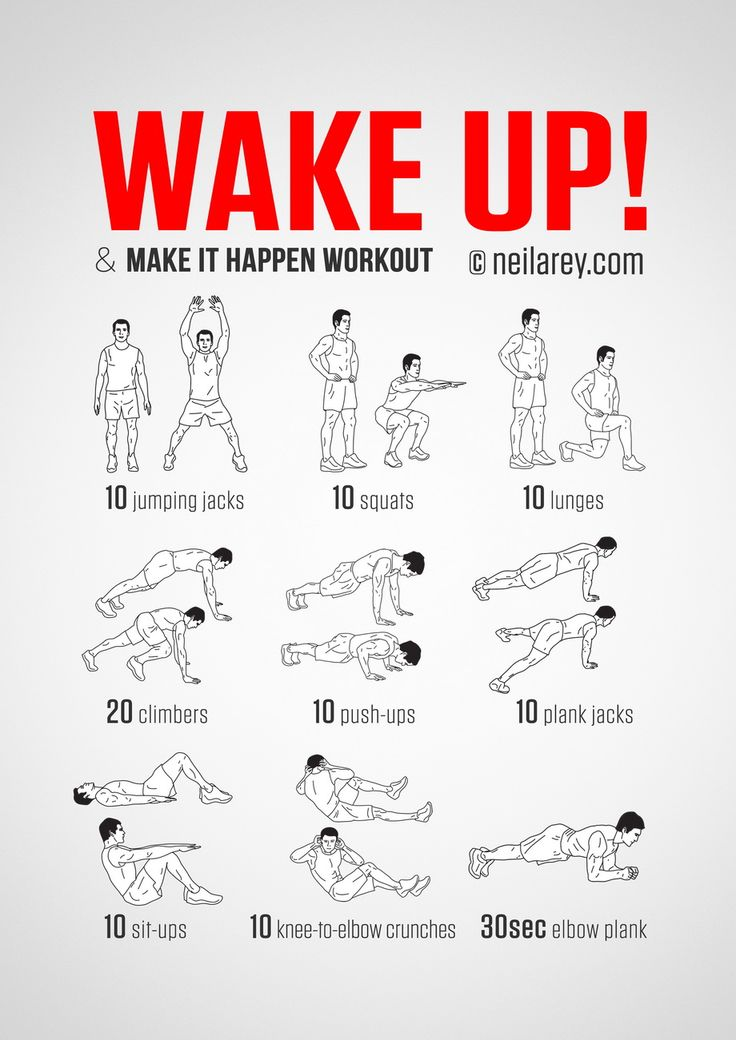 No-equipment body-weight workout for starting your morning on a high. Infamous Wake Up & Make it Happen wo