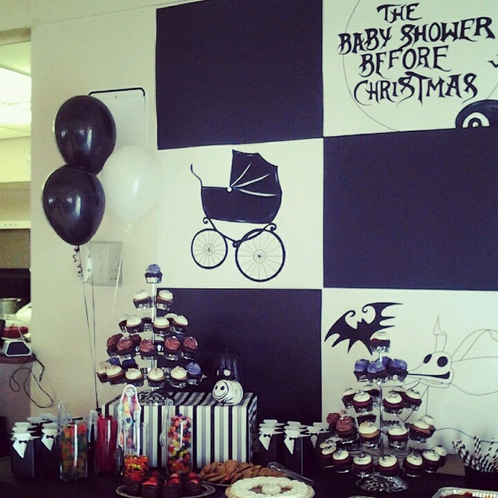 Totally not related but I want MY party to look like this!!! A Nightmare Before Christmas Baby Shower