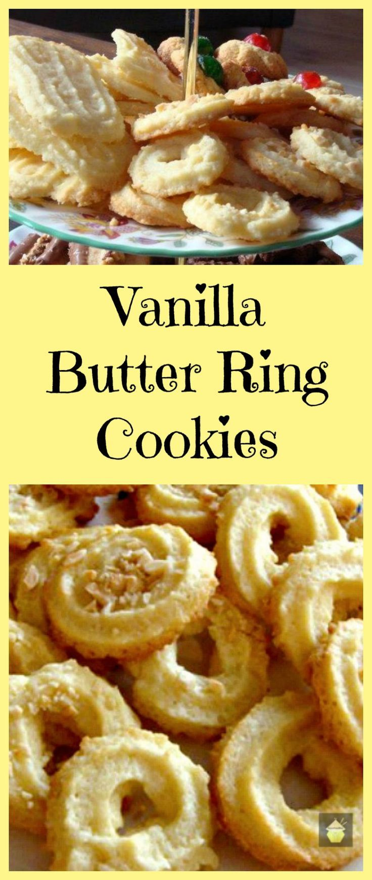 Vanilla Butter Ring Cookies. These little cookies have a wonderful vanilla flavor and melt in your mouth.