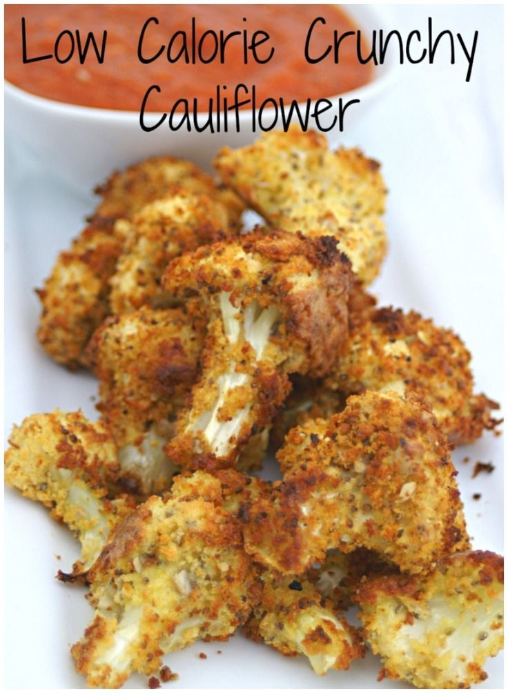 Low Calorie Cauliflower Crunch – This is a crunchy comfort food, made into a diet dish. I kept the calorie