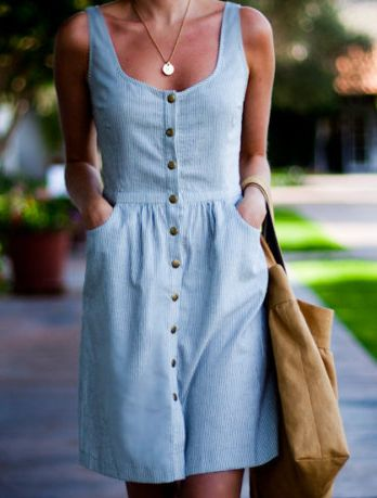 Chambray dress – simple and classic. Love it.