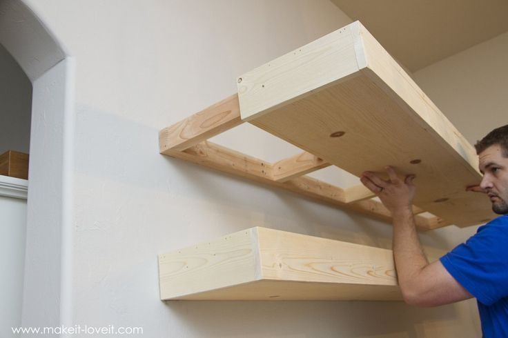 How to Build SIMPLE FLOATING SHELVES (…for any room in the house!) | via Make It and Love It