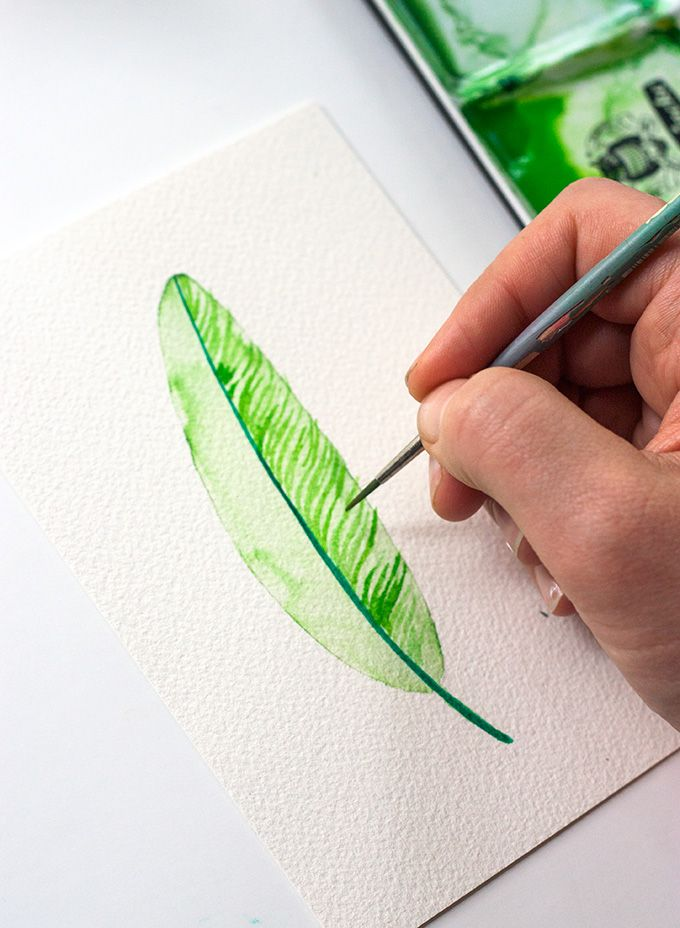 DIY: Three Ways To Paint A Watercolor Feather (For Beginners) | adventures-in-mak…