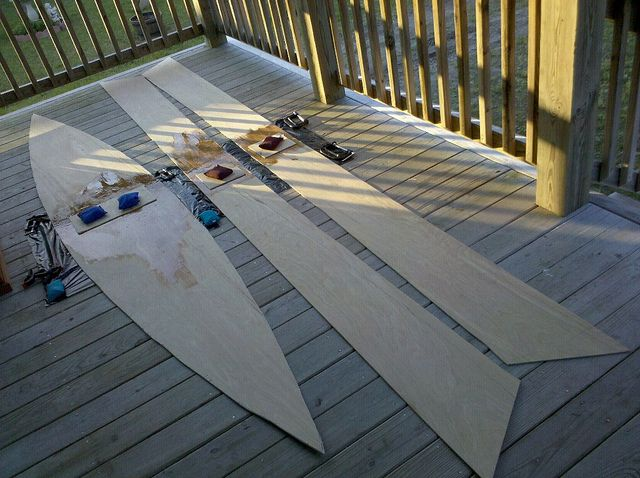 How to build a plywood boat for cheap. 2 sheets of 1/4″ flexible plywood.
