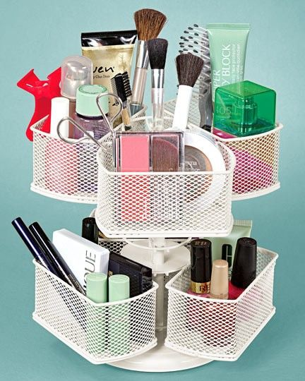 Super Cool: This Lazy Susan Was Made Especially for Your Makeup!: Girls in the Beauty Department…I think