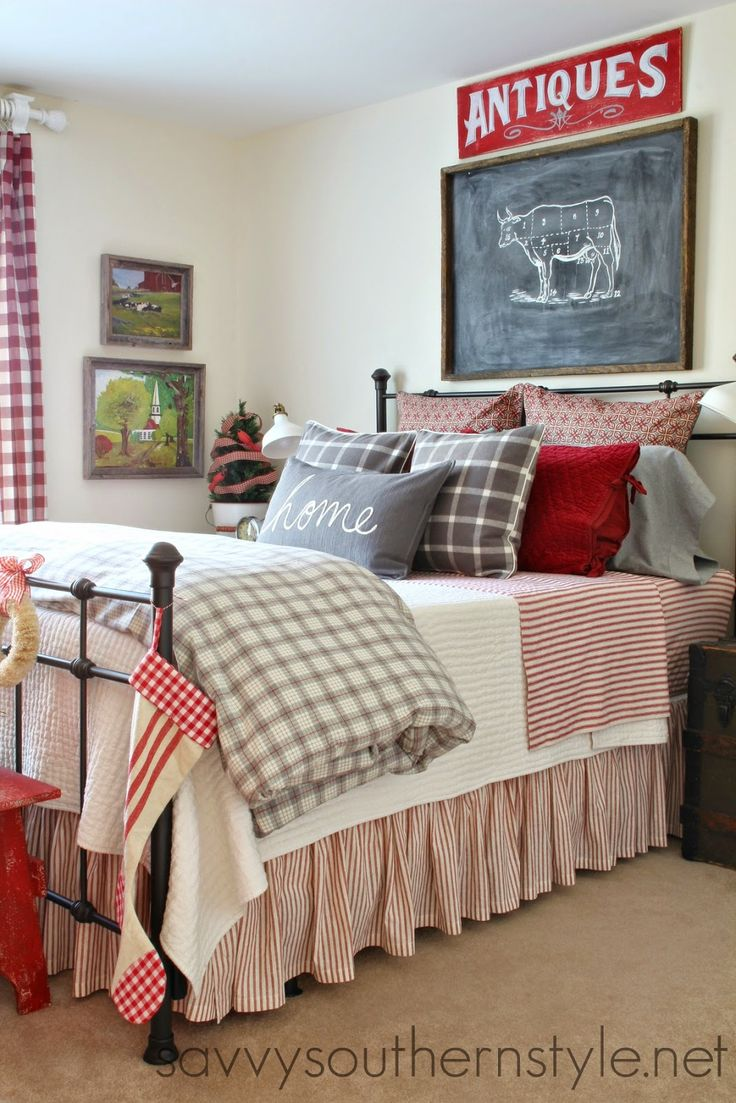 Savvy Southern Style: Farmhouse Guest Room Christmas