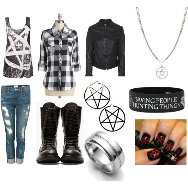I must say I love these outfits based on Supernatural because plaid and jeans are awesome