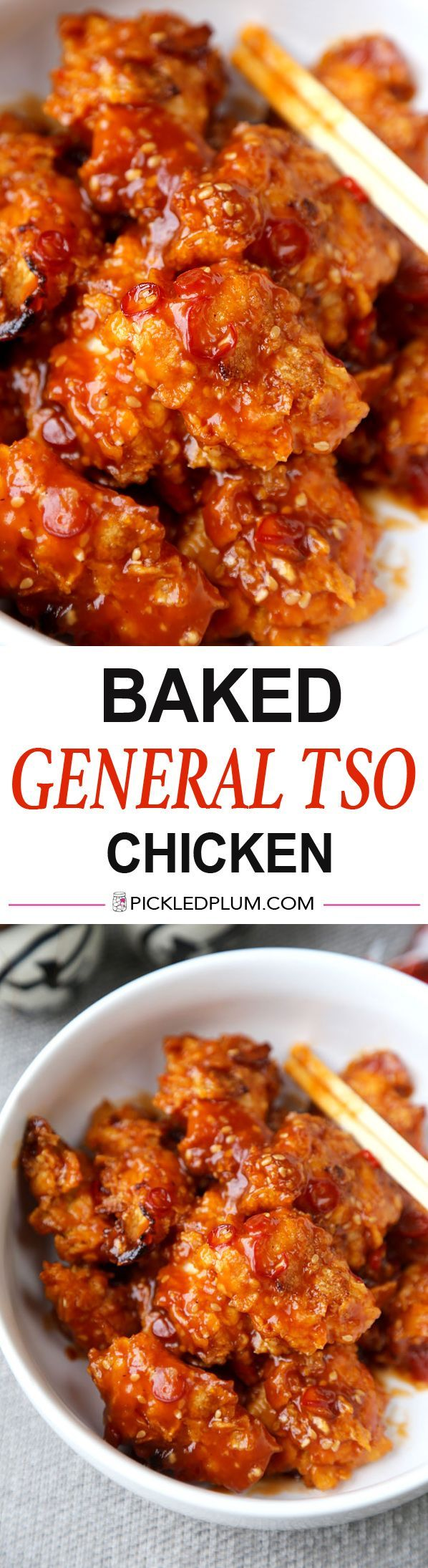 Baked General Tso Chicken Recipe – Crushed Cornflakes imitate fried chicken so well you'll forget you are