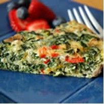 Recipe for CRUSTLESS SPINACH QUICHE  *Coach approved for ALL phases.  ~According to my calculations: Divid