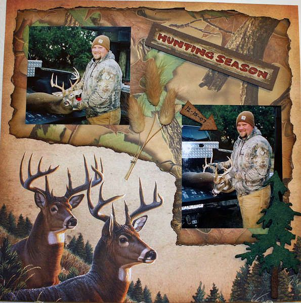 Hunting scrapbook layout