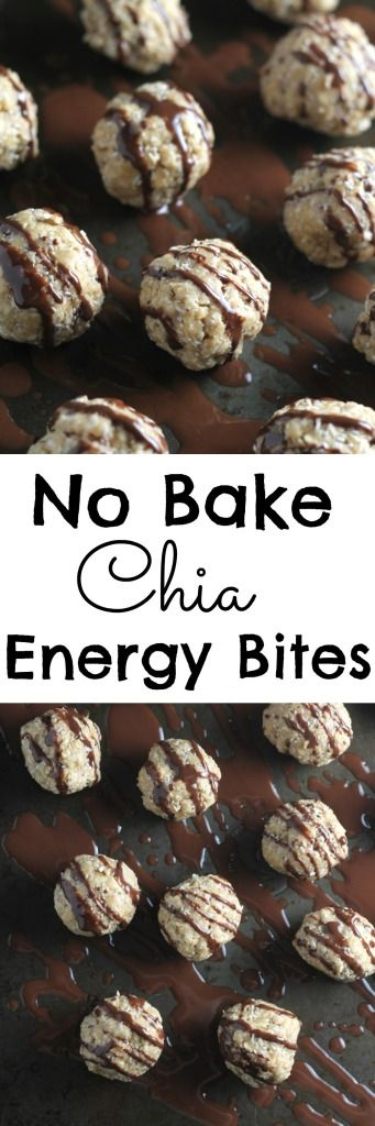 An easy no bake recipe for gluten free energy bites made with oats, nut butter and chia seeds. So heal