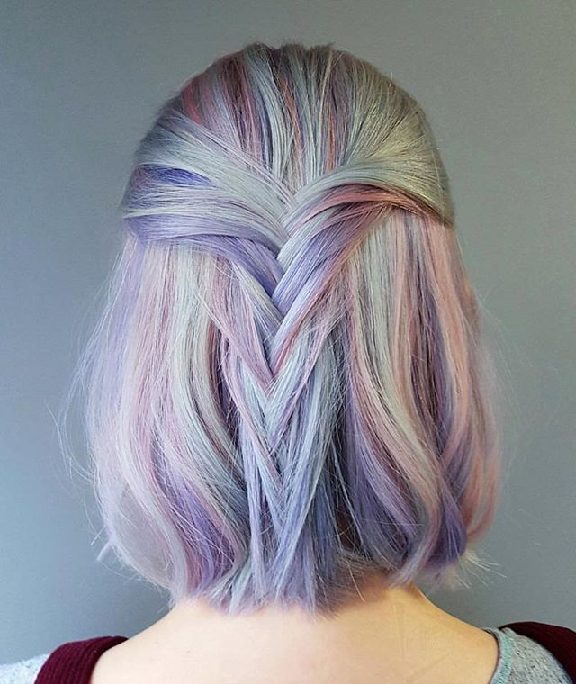 Pastel violets, blues and pink – Fairy hair!