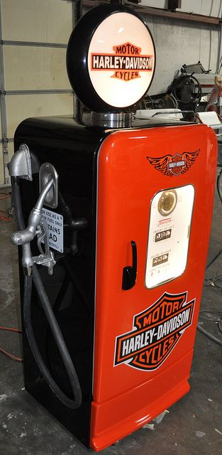 Super cool kegerator ~ Gas Pump Style Vintage Refrigerator Kegerator by CCCSTL, via Flickr