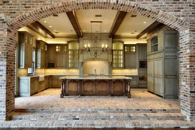 I am loving the use of exposed brick in this kitchen. @Frederick Turner Miller @Alex Atkinson Larson
