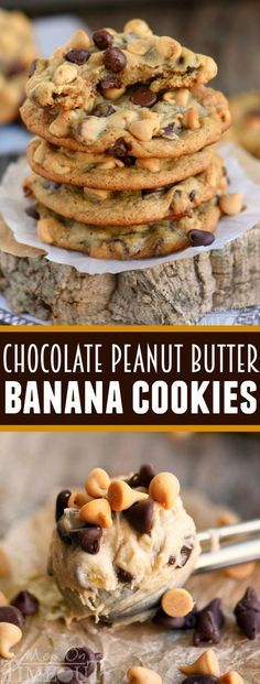 Got ripe bananas? These Easy Chocolate Peanut Butter Banana Cookies are WAY more fun than making banan