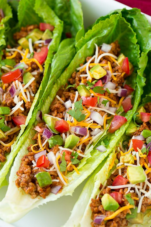 Turkey Taco Lettuce Wraps – these are seriously delicious!! We liked them just as much as the classic