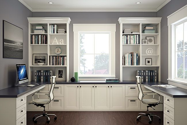 Move the built-ins to the right side and leave both the left and middle tops for working space, this i
