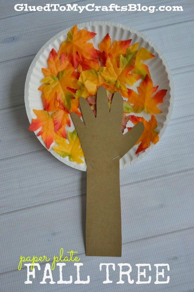 Paper Plate Fall Tree – Kid Craft