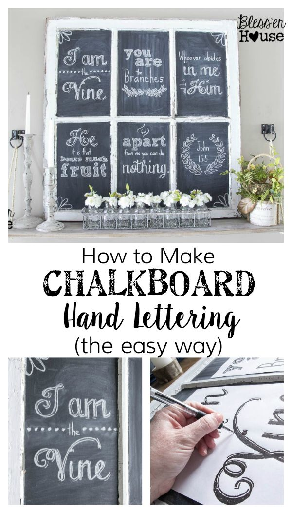How to Make Chalkboard Hand Lettering the Easy Way er House –