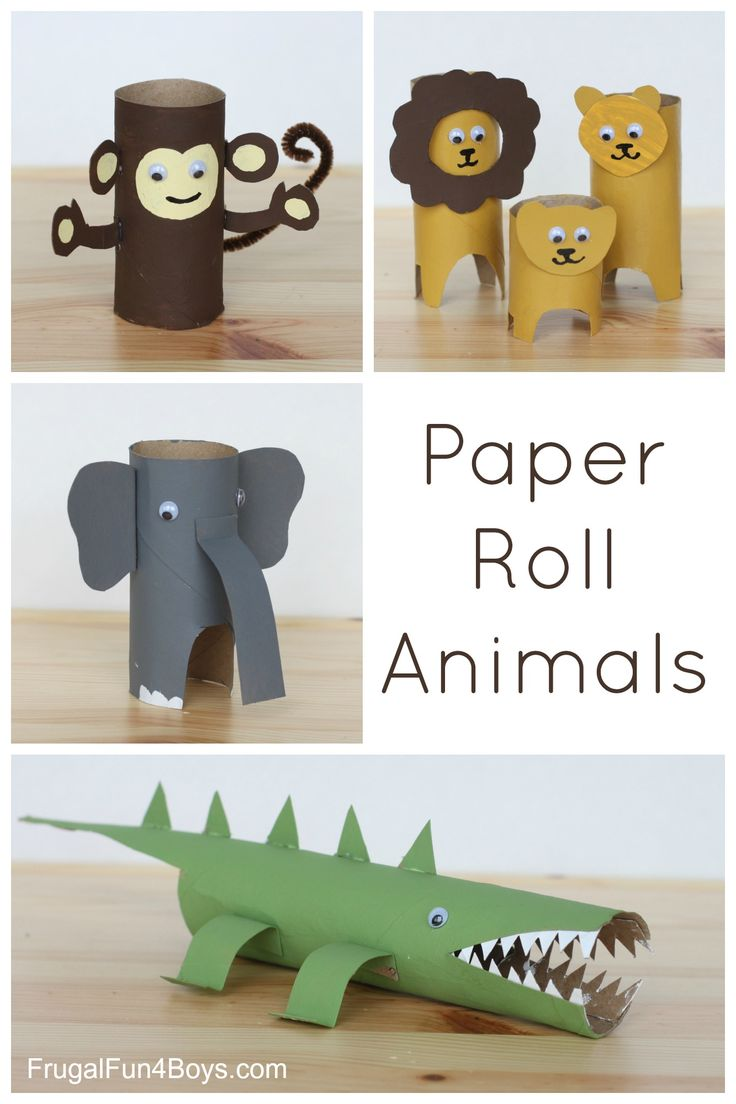 Simple toilet paper/paper towel roll animals. Adorable kids craft!