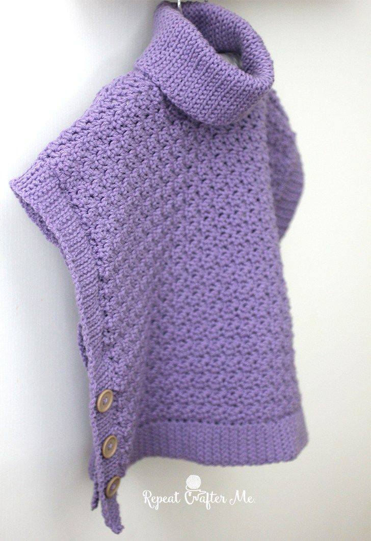 Yarnspirations Crochet Poncho For You and Me and Giveaway! – Repeat Crafter Me… FREE PATTERN!
