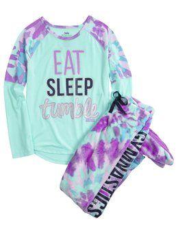 Gymnast Fleece Footed Pajama Set