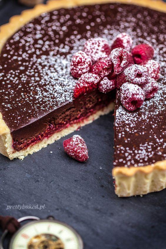 Raspberry chocolate torte 40 mins to make, serves 12
