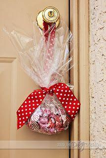 Random Acts of Kindness ~ Goodies on doorknob