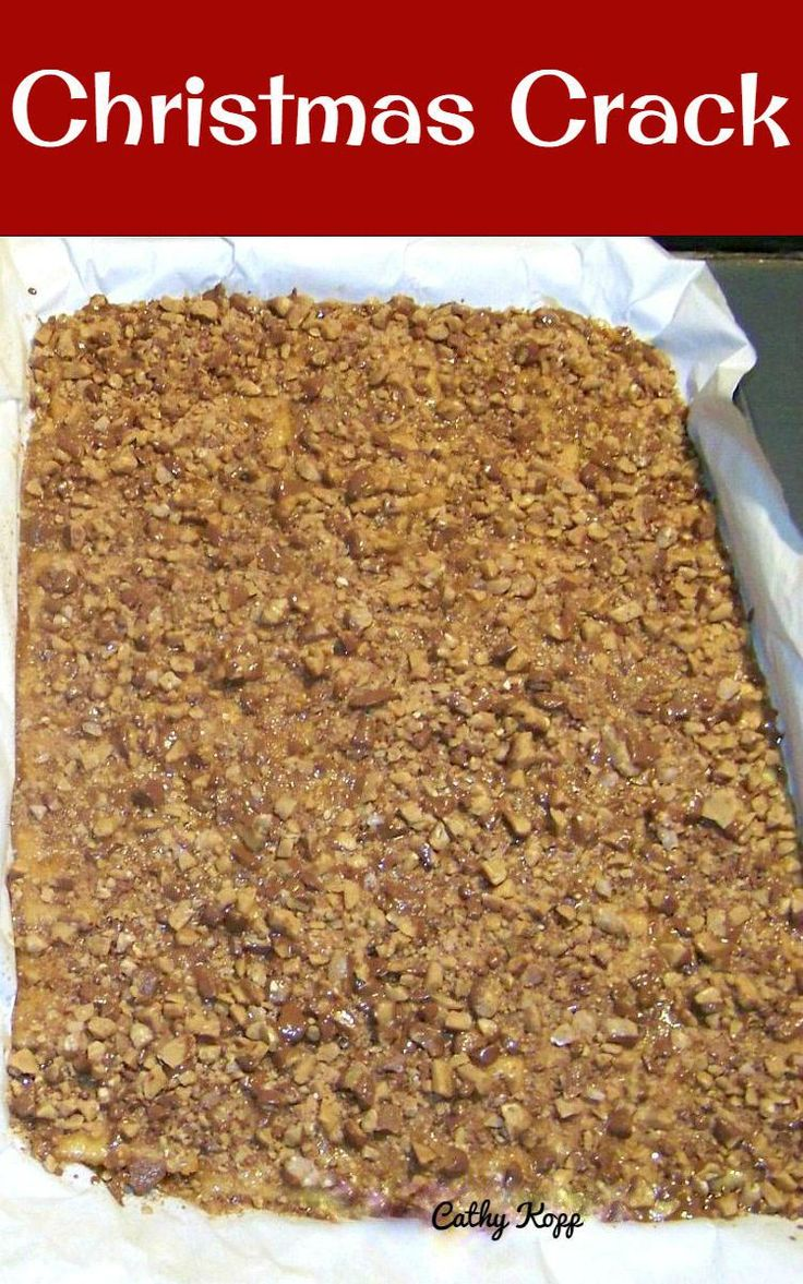 Christmas Crack. If you've never tried this you're missing out! Really easy recipe and always a hit at