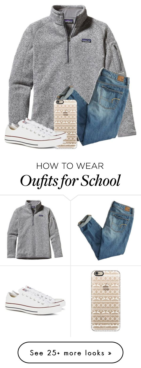 """""""School"""" by liveloveshopfashion on Polyvore featuring Patagonia, American Eagle Outfitters,"""
