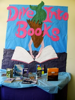 Library Displays: Dive into books