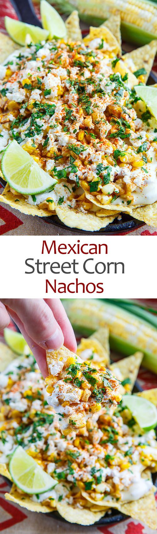 #NationalCornChipDay: Mexican Street Corn Nachos – all the flavours of Mexican style street corn in na