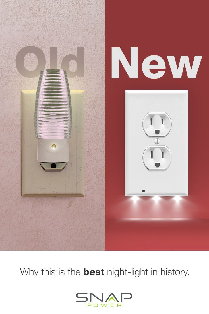 The Nightlight Reinvented! No more old school style nightlights when you can have a modern LED nightli