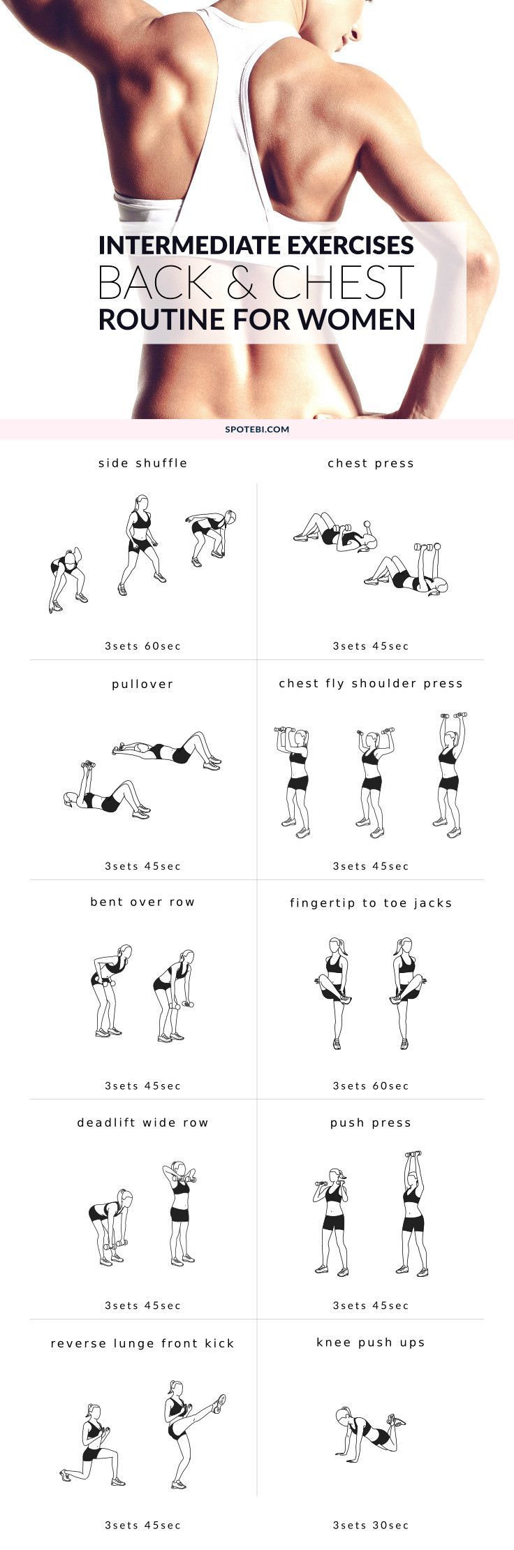 Improve your posture and increase your strength at home with this upper body intermediate workout. A b