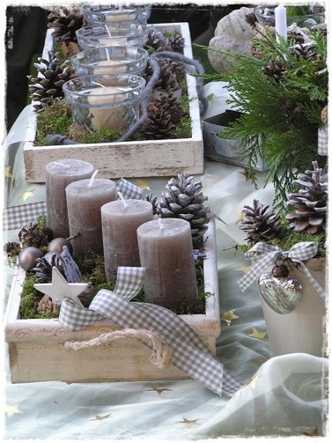 Wonderful idea to create a creative christmas wreath /// Tolle Idee für einen ausgefallenen Weihnacht