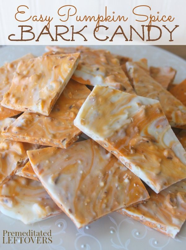 Pumpkin Spice Bark Candy Recipe – This quick and easy pumpkin spice bark only takes 4 ingredients and