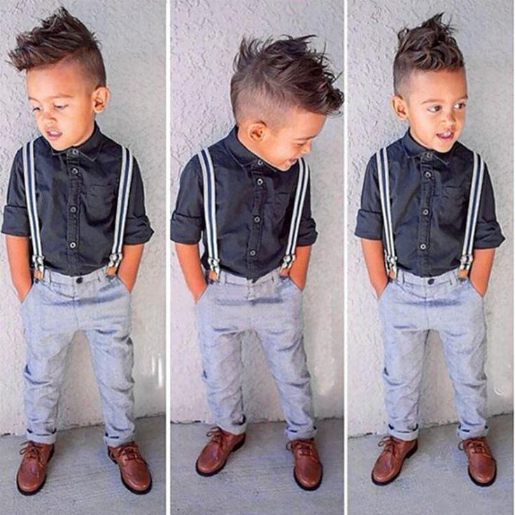 New Gentleman Baby Boy T-shirt+Suspender Trousers Overall Suits for Little Boys Summer Clothing Sets C