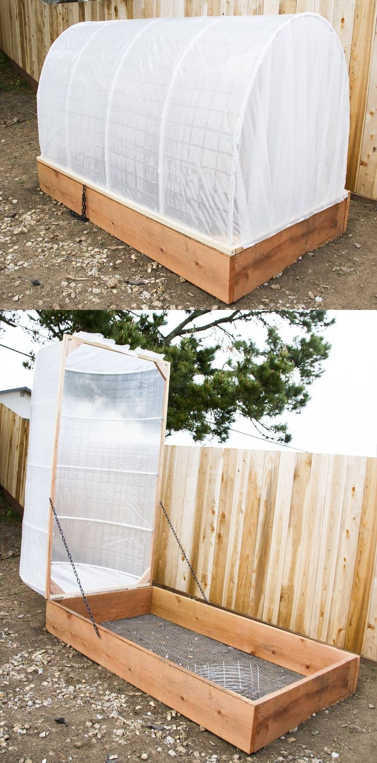 DIY Covered Greenhouse Garden:  A Removable Cover Solution to Protect Your Plants | Apartment Therapy